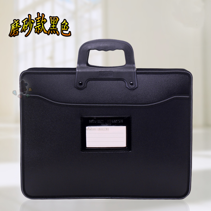 Business Custom A4  Zipper Men Briefcase Document Bags High Capacity Portable File Folder/a Case For Documents /filing