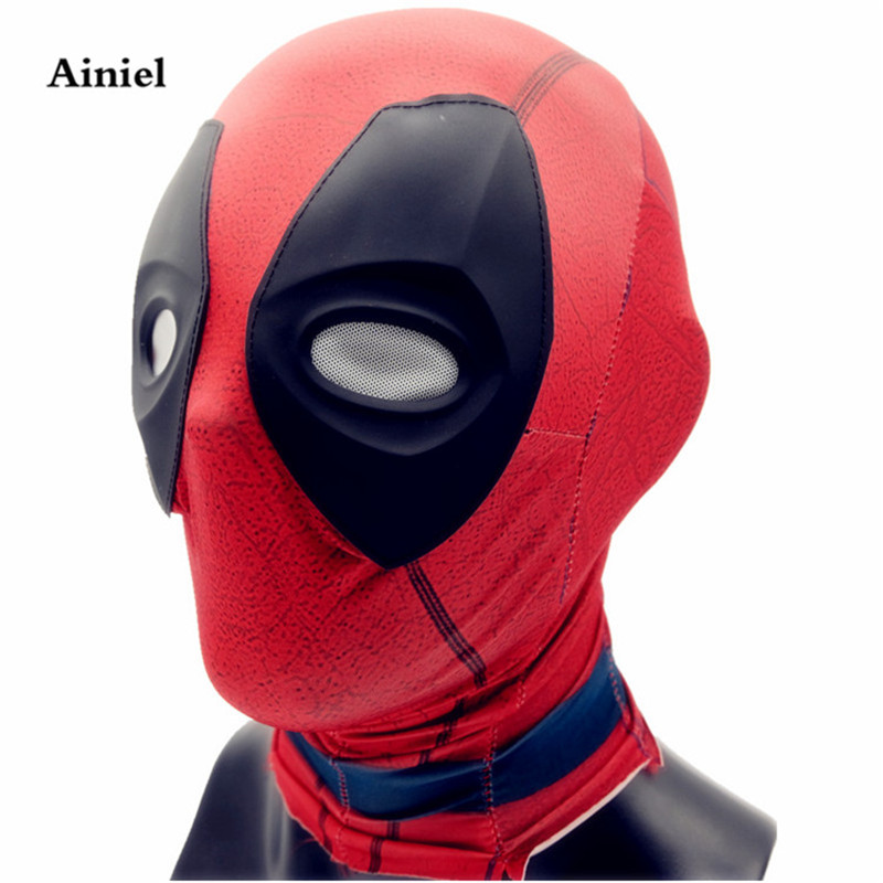 Ainiel Deadpool Mask Weapon X  Deadpool Cosplay Costume Wade Winston Wilson Facepiece For Men and Women Halloween Party Carnival