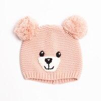 Baby Toddler Cute Cartoon Beanies For Boys Girls Hat Knitted Cap Winter Hand Knitting Watermelon Nipple