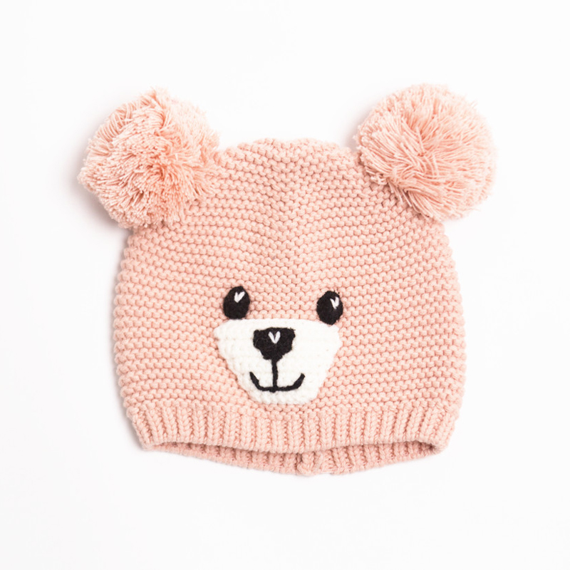 Baby Toddler Cute Cartoon Beanies For Boys Girls Hat Knitted Cap Winter Hand Knitting Watermelon Nipple head