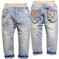 6474 детские джинсы детские мягкие джинсовые брюки весна мальчик брюки светло-голубой мягкой 2017 new kids детская одежда мода