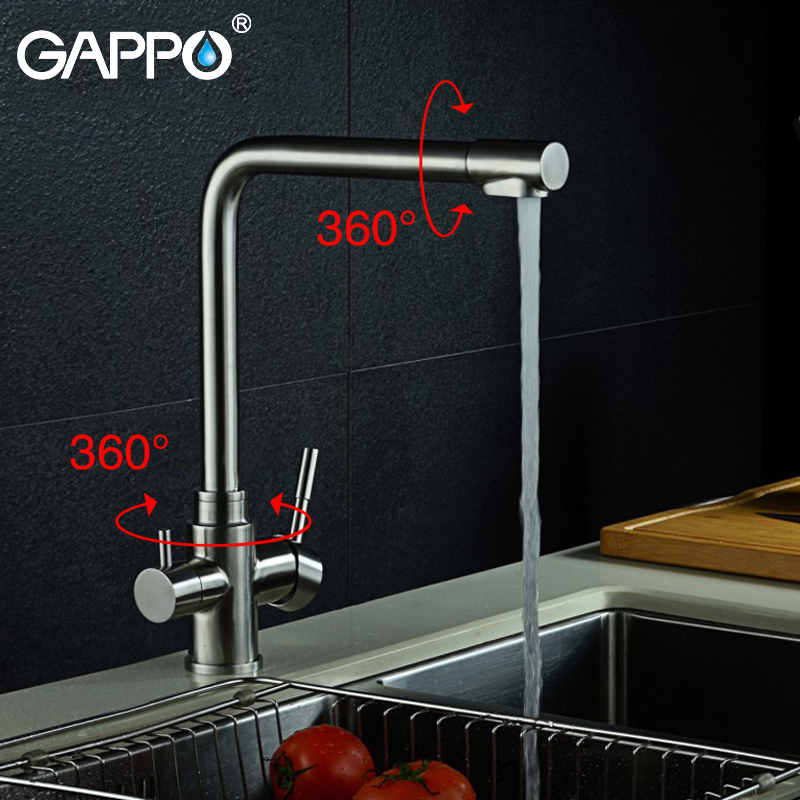 Kitchen Faucet Purified Water Purification Faucets Deck: GAPPO Kitchen Faucet Waterfilter Taps Mixer Drinking Water