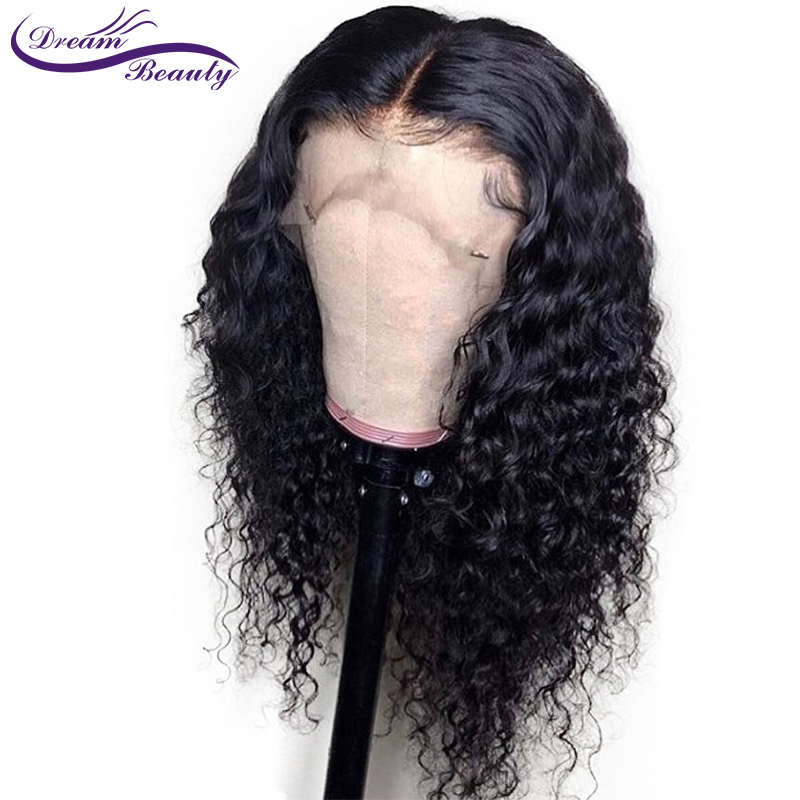 wicca fashion Natural Color Lace Front Wig For Black Woman 14″-24″ Kinky Curly Brazilian Remy hair lace front human hair wigs