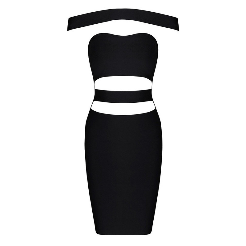 Free Shipping 2016 New Fashion European and American Style Women Black Sexy Cut Out Bandage Dresses themost sexy fish mouth hollowed out roman sandals fashion foreign trade european and american style four colors can be selected