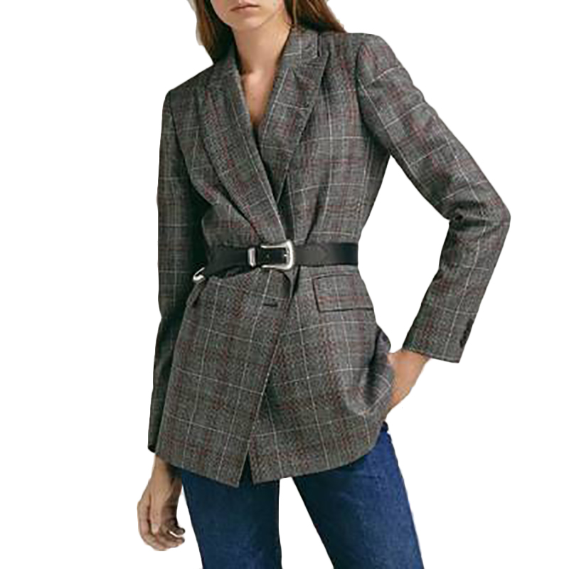 Work Pant Suits OL 2 Piece Sets Double Breasted Platz Jacket 2019 Trousers Suit Women Set Feminino Spring Costume Femme