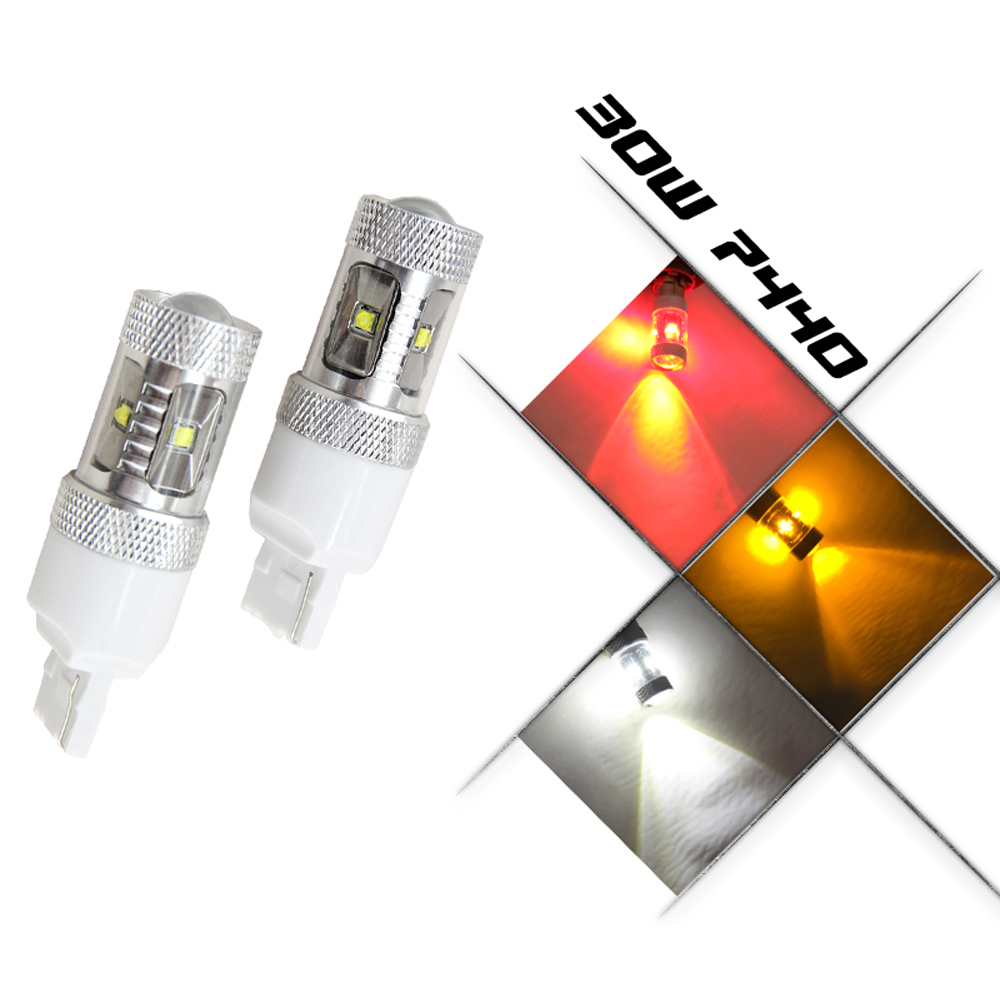2X T20 7440 30W LED Dual Color White Yellow Switchback Turn Signal Light + Canbus Error Free Decoder Load Resistor W21W 4 inch 60w led fog lights w white halo ring drl for jeep wrangler 97 15 jk tj lj off road fog lamps