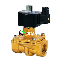free shipping 1.25 1 1/4 Size DN40 Brass Electric Solenoid Valve Normal Open 2W350 35 NO water air oil diesel AC/DC 12V 24V