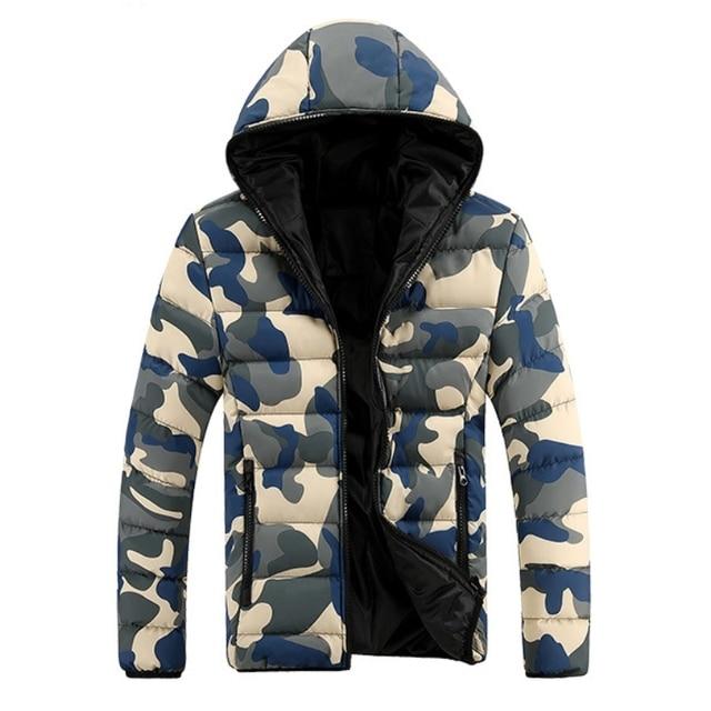 Men Men's new winter coat Slim down cotton men's padded camouflage jacket chaqueta de invierno de los hombres puffer jacket