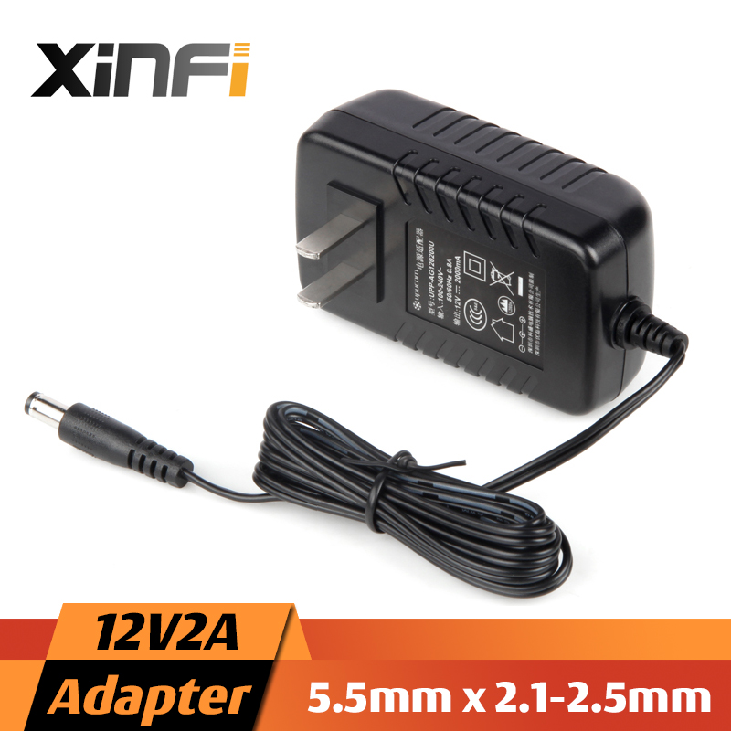 XinFi NEW 12V2A/1A AC 100V-240V Converter Adapter DC 12V 2A 2000mA Power Supply EU / US Plug 5.5mm x 2.1-2.5mm for LED CCTV ac 110 240v to dc 12v 1a power supply adapter for cctv hd security camera bullet ip cvi tvi ahd sdi cameras eu us uk au plug