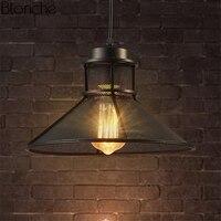 Vintage Pendant Lights Net Horn Hanglamp Led Hanging Lamp Loft Retro Iron Lights for Restaurant Light Fixtures Industrial Decor