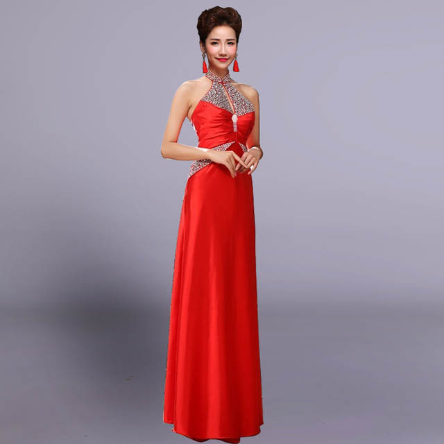 Placeholder Hot Fashion Sexy Backless Bottom Slim Dresses For Party Club Wear Halter Long One Piece Dress