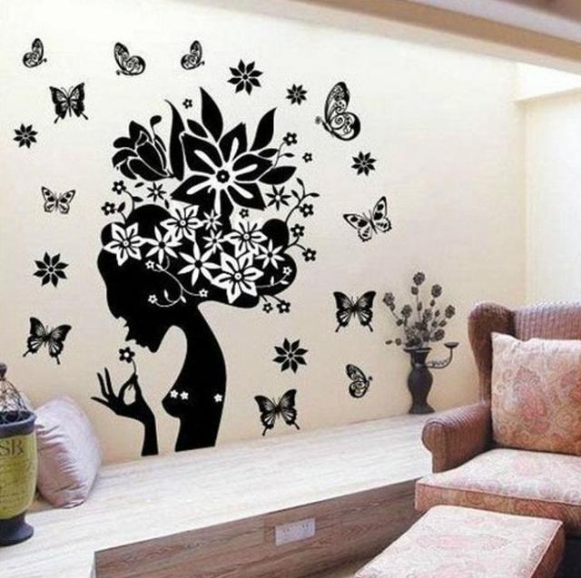 2015 Grass Wizard Vinyl Wall Stickers Black Butterfly Home ...