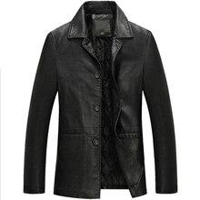 New 2016 brabds Leather Jackets Men  Warm Windbreak Men Coats Winter Warm Jacket Men's Fashion Luxury Leather Mens Fur Coat EDA