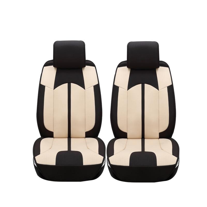 Linen car seat covers For Hyundai IX35 IX25 Sonata Santafe Tucson ELANTRA Accent Verna I30 car accessories styling car seat cover seat covers for hyundai santa fe solaris sonata tucson 2017 2016 2015 2014 2013 2012 2011 2010 2009 2008 2007