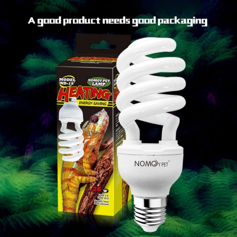 Reptile Succulent Plant Calcium Sun Lamp With 26W UVB Energy-Saving Tortoise Lizard Habitat Lighting Turtle Snake Lguanas Pet