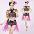 Adult  Modern Jazz Dance Costumes for Women Sequined Dancing Dress Costume Party Performance Wear