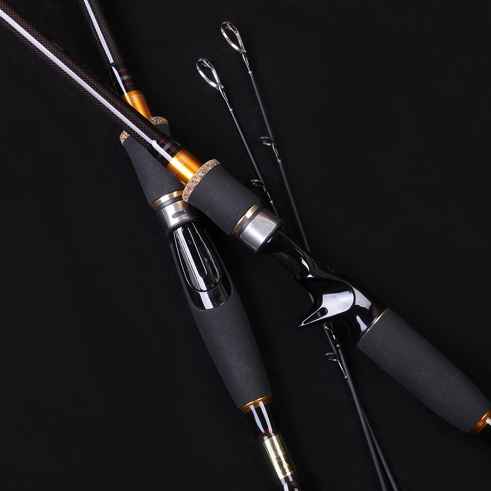 WALK FISH 2.1m 2.4m 2.7m 3.0m Carbon Fiber Rod Spinning Fishing Rods Casting Travel Rod 4 Sections Fast Action Fishing Lure Rod