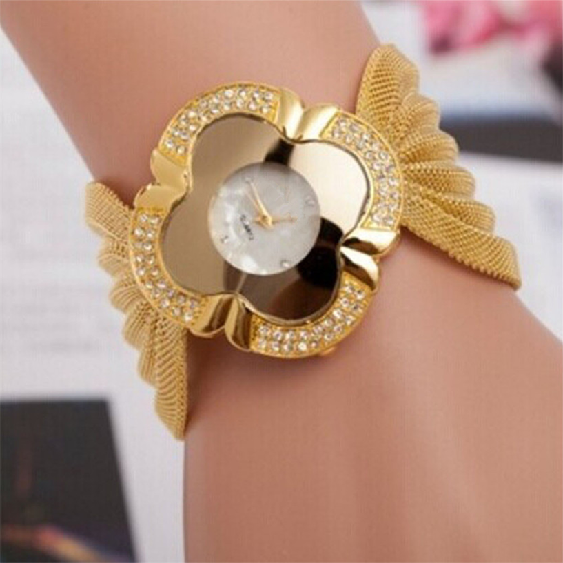 Hot Sale Fabulous Lady Diamond Bracelet Watch Mirror Luxury Quartz Watch Drop Shipping #08