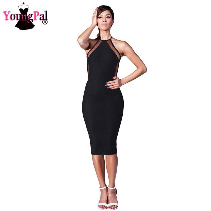 usa stock s xxl 2015 party dresses black mesh panel back cross midi pencil slimming fitted. Black Bedroom Furniture Sets. Home Design Ideas