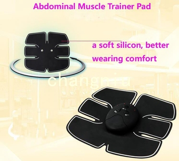 Freeshipping good quality 50pcs/lot six-pad  Abdominal electrode pads for ABS fit tens units smart fitness no machine