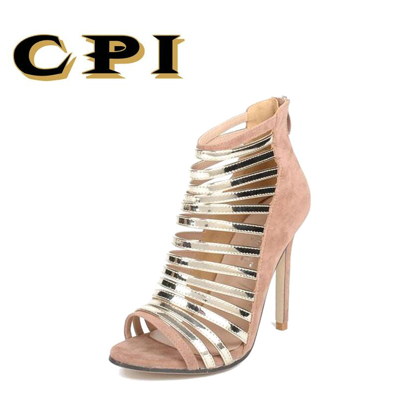 CPI Desiger Womens Bridesmaid Bridal Wedding Pumps Strappy Open Toe Sandals Women Heels Hollow Thin belt Roman Shoes NX-037 denim zipper hollow worn stiletto womens sandals