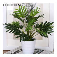 Fake Plant Branch Green Leaf Flower Pot Artificial Flowers Garden Plant Ivy Indoor Planting In The Hotel Office CHENCHENG