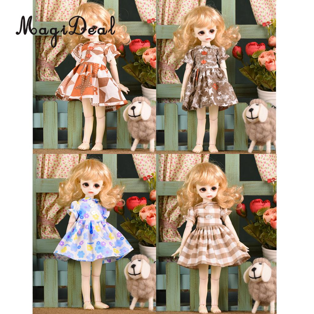 1/6 Fashion Doll Clothes Floral Dress Skirt Wedding Dress Gown Clothing Evening Party Clothes for Dolls Accessary