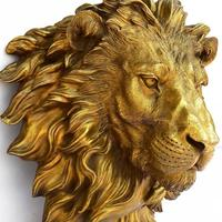 Copper brass decoration Animal pendant copper lion head Home Furnishing town house animal