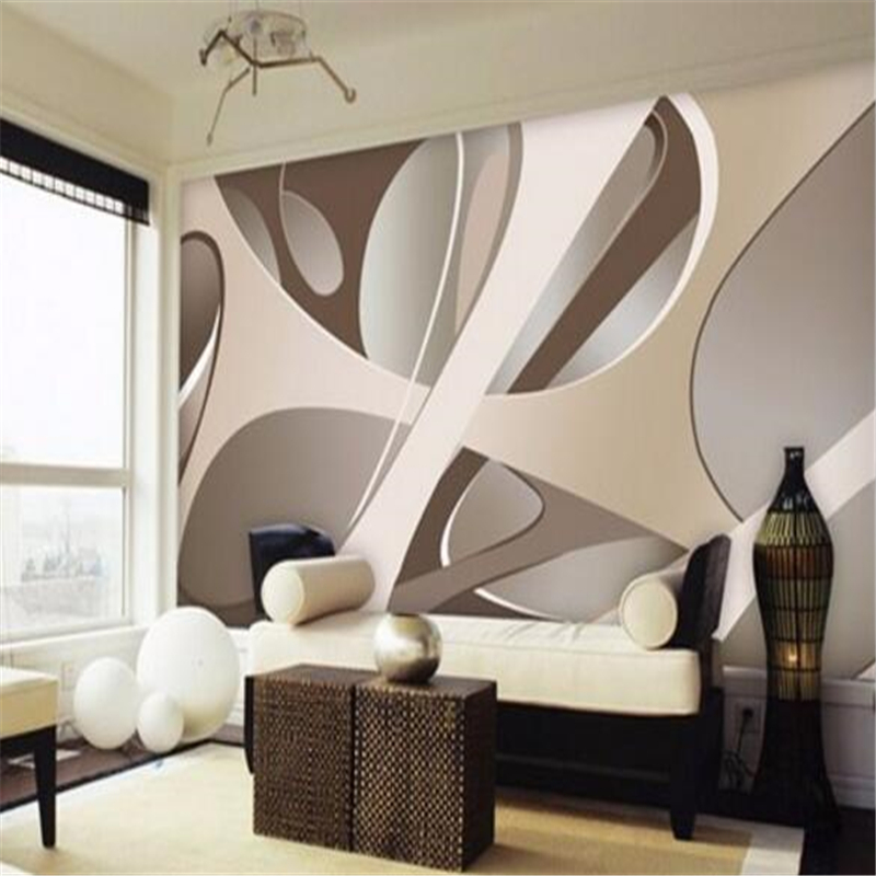 Beibehang Wallpaper Fresco Art Deco Picture Background Modern Simple Geometric Line 3d Living Room HD For Walls 3 D In Wallpapers From Home