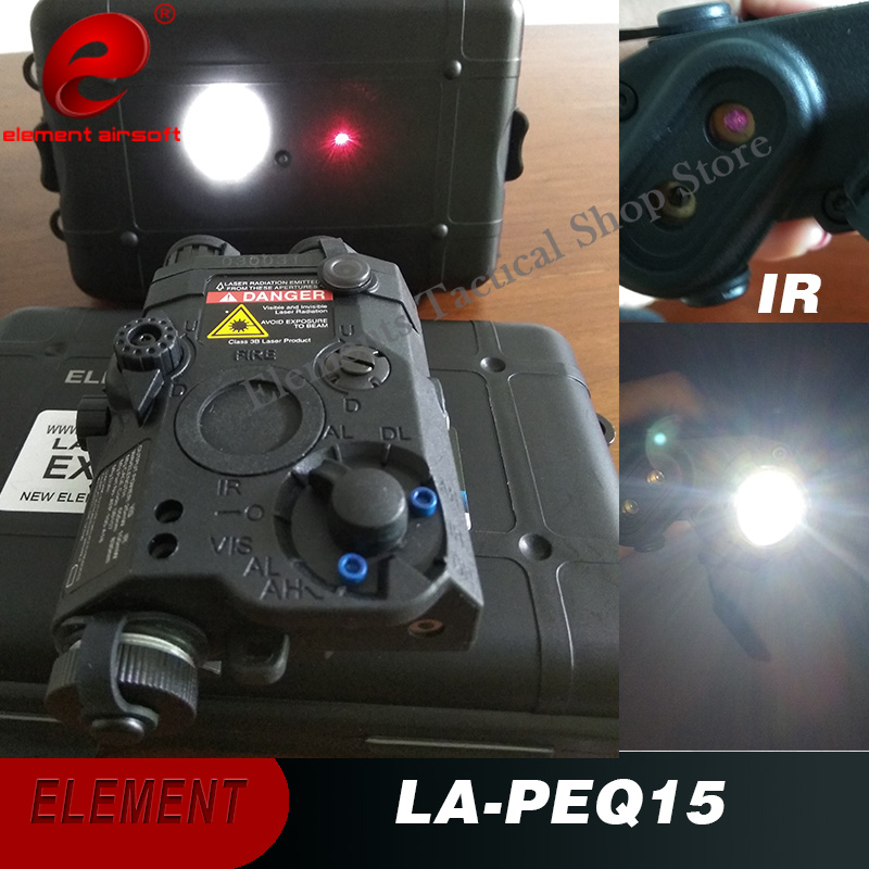 Element Airsoft PEQ 15 Flashlight Laser Hunting Tactical Red Laser Softair PEQ 15 Red Laser PEQ