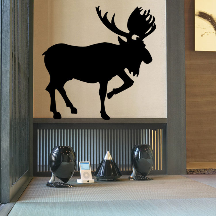 hot style auspicious deer animals pattern wall stickers living room bedroom art deco stickers can be removed diy home decor bedroom furniture sticker style