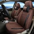 Asiento de coche cubierta de tela de lino asientos para volkswagen vw tiguan Cover Set Custom Fit Coche Cubre Asiento De Soporte Del Amortiguador Airbag Compatible