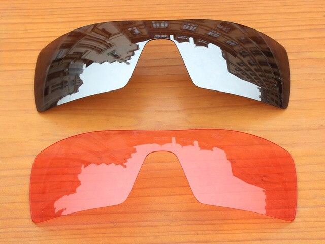 Хром Серебро и Розовый Кристалл 2 Шт. Сменные Линзы Для Нефтяной Вышке Солнцезащитные Очки Кадров 100% UVA и UVB Защиты