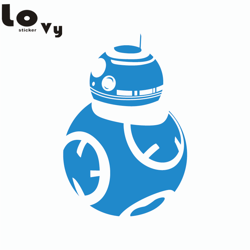 Star Wars Bb 8 Droid Wall Sticker The Force Awakens Wall Decal In
