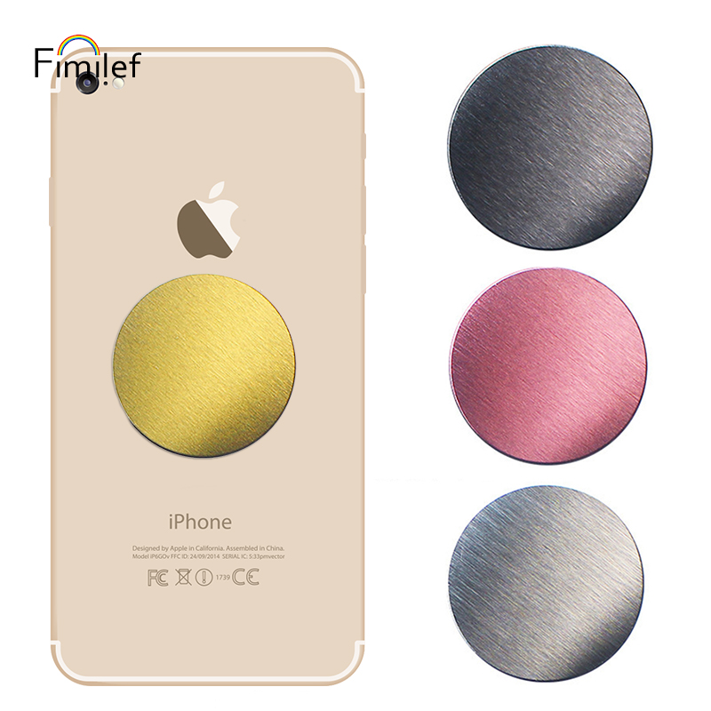 Fimilef Drawing Metal Plate For Magnetic Car Phone Holder 40*40mm Universal Magnet Mobile Phone Stand Accessories For Iphone