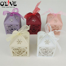 50 Pcs Wedding Candy Box Birthday Party Gift Packaging Paper Bags Sachets Cardboard Boxes Bonbonniere Favors