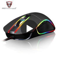 Motospeed V30 Game Ergonomic Gaming Mouse Gamer Mause Wired With Backlight For Laptop PC Computer RGB Optical Raton Rato Player