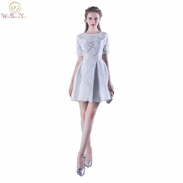 Walk Beside You White Prom Dresses Simple Elegant Short Lace Evening ...