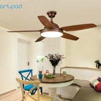Artpad 36 Вт диммер американский творческий светодио дный потолочный светильник вентилятор AC220V удаленного Управление вентилятор для Гостиная