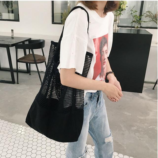 Aelicy Lady Shoulder Bag Fashion Causal Shopping Girl Handbag Mesh Beach Bags for women 2019 bolsa feminina dropshipping sac hot