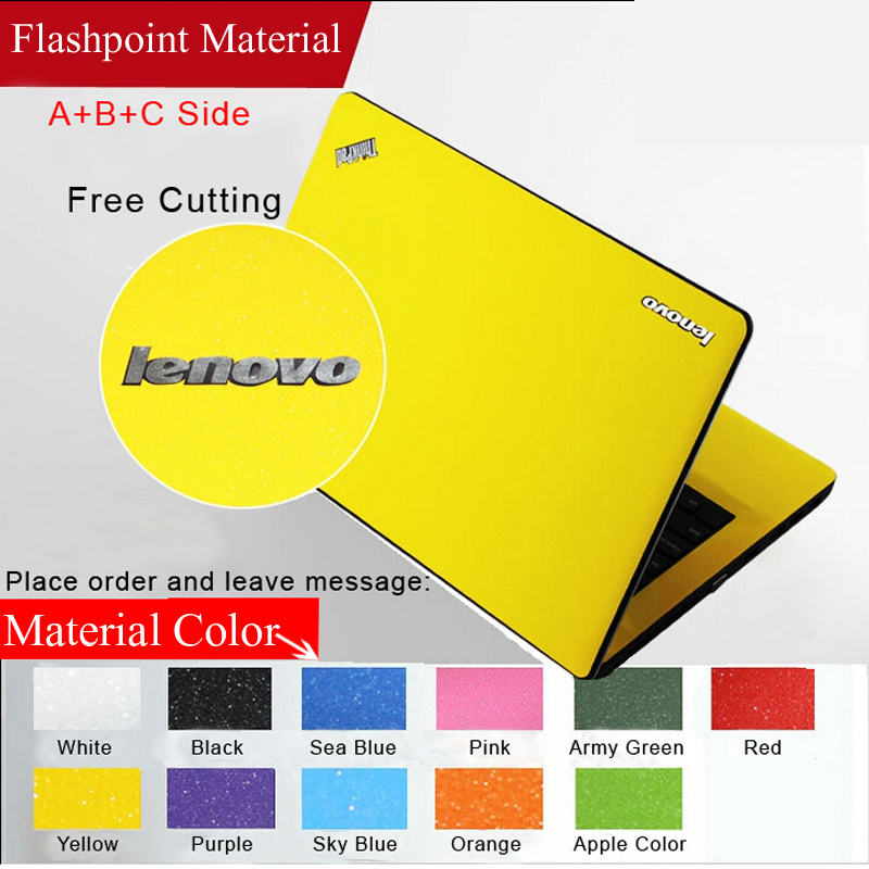Fashion Personality Skins Pure Color Laptop Sticker Waterproof Protective Decal Stickers For Lenovo Y50/Y470/ Y471/ G410 Case