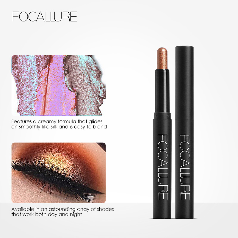 FOCALLURE 12 Colors Eyeshadow Cosmetics Pencil Eyes Makeup Eye Shadow Eye Liner 3