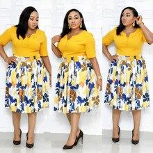 Новое летнее сексуальное модное Стильное Африканское женское платье с принтом размера плюс L-3XL