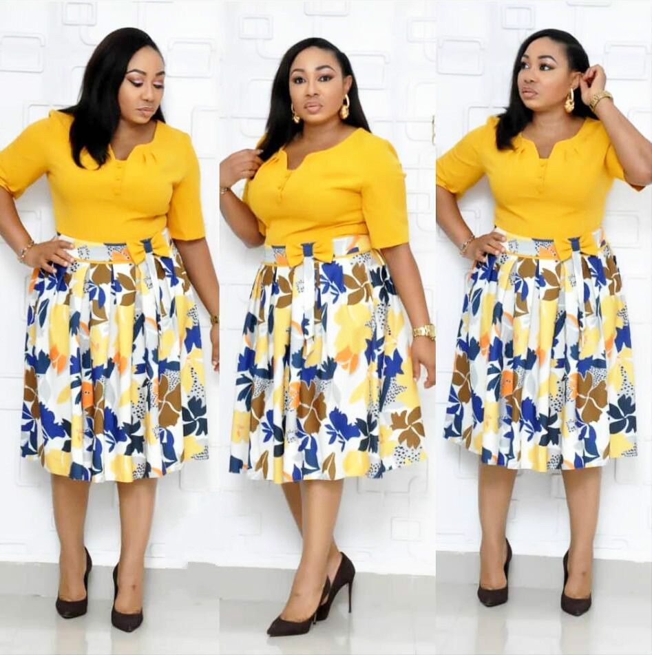 2019 New Summer Sexy Fashion Style African Women Printing Plus Size Dress L-3XL