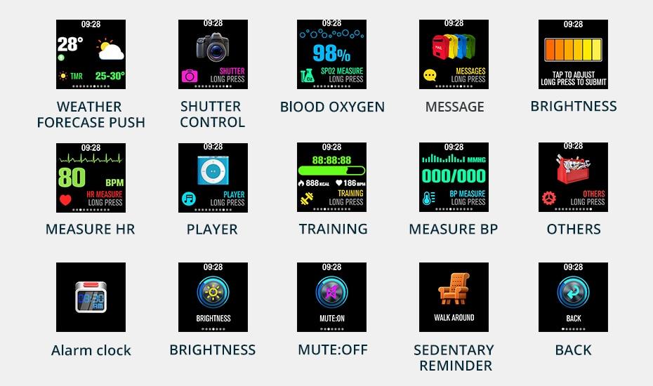 COLMI V11 Smart watch IP67 waterproof Tempered glass Activity Fitness tracker Heart rate monitor BRIM Men women smartwatch 11