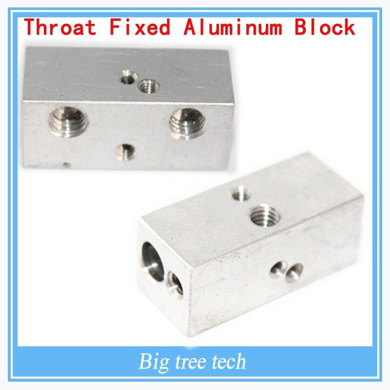 3D printer parts extruder throat fixed block aluminum block 32*13*13mm MK8 for I3 printer
