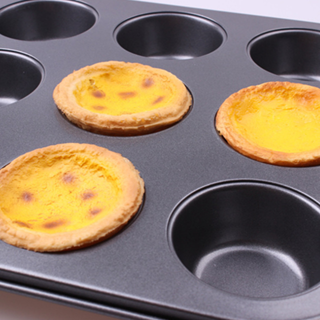 12 Cups Iron Non-stick Muffin Pan Metal Cupcake Baking Tray Mini Size