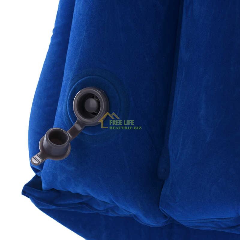 2017 la almohada de viaje inflable más diversa e innovadora en las almohadas de avión, almohada para el cuello, cojín, alfombrilla, cojines para exteriores