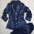 Plus Size Mulheres Pijamas de Cetim Sleepwear Conjunto Camisola Camisola Lingerie Sexy Imitado Seda Spaghetti Pijama Nightwear Ucrânia