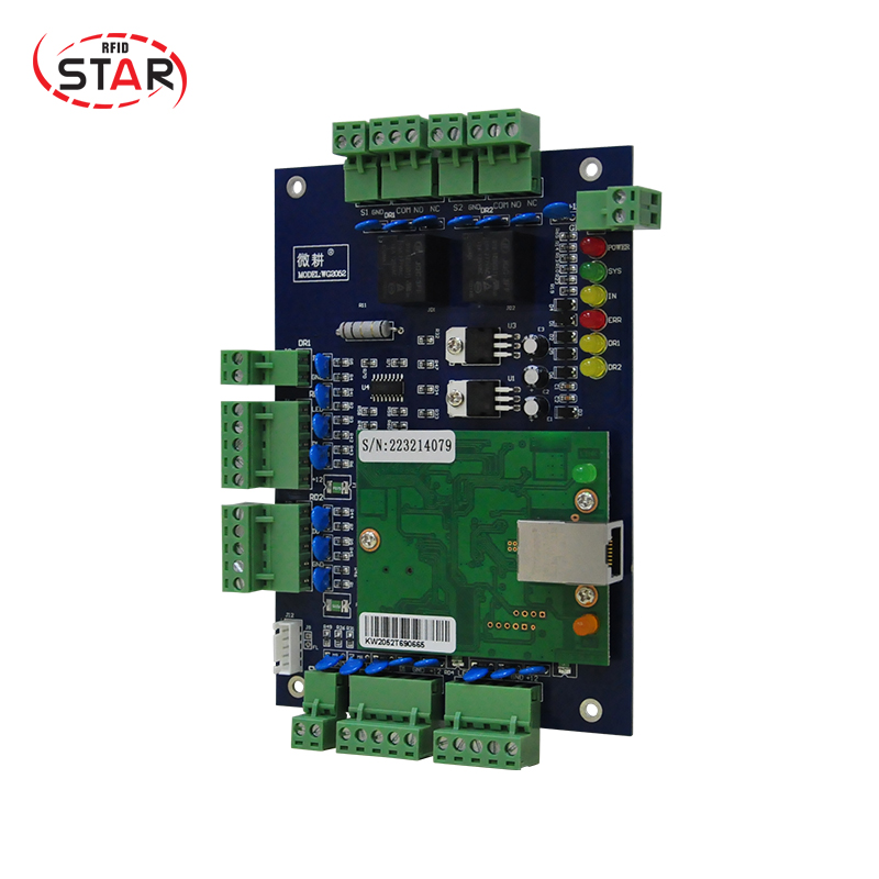 free shipping Access Control Panel RFID access control board TCP/IP Double Door Security Controller free english software тумба навесная акватон мадрид 80